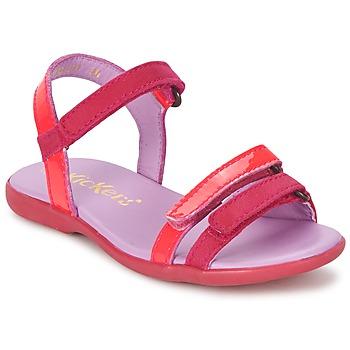 Chaussures Fille Sandales et Nu-pieds Kickers ARCENCIEL Fuchsia / Rose / Fluo