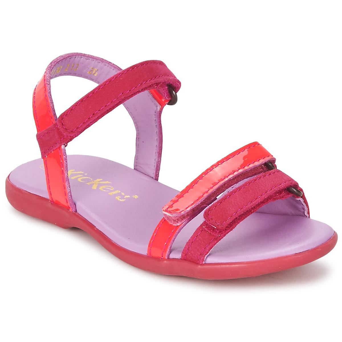 Sandale Kickers ARCENCIEL Fuchsia / Rose / Fluo