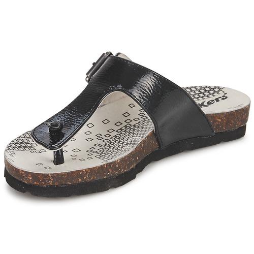 Chaussures Fille Tongs Kickers DITIK Noir