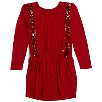Vêtements Fille Robes courtes Guess Robe  à Paillettes Rouge Rouge