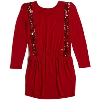 guess robe paillettes rouge rouge livraison gratuite. Black Bedroom Furniture Sets. Home Design Ideas