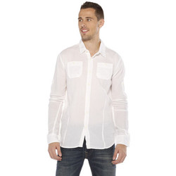 Vêtements Homme Chemises manches longues Deeluxe Chemise HOMME - MOJITO - WHITE Blanc