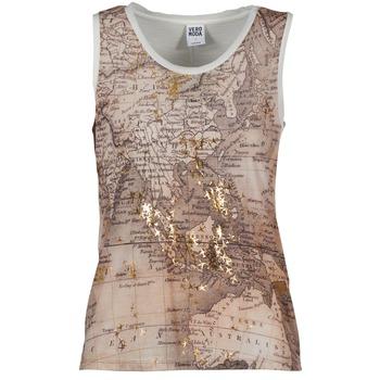 Vêtements Femme Débardeurs / T-shirts sans manche Vero Moda MAP Beige / Blanc