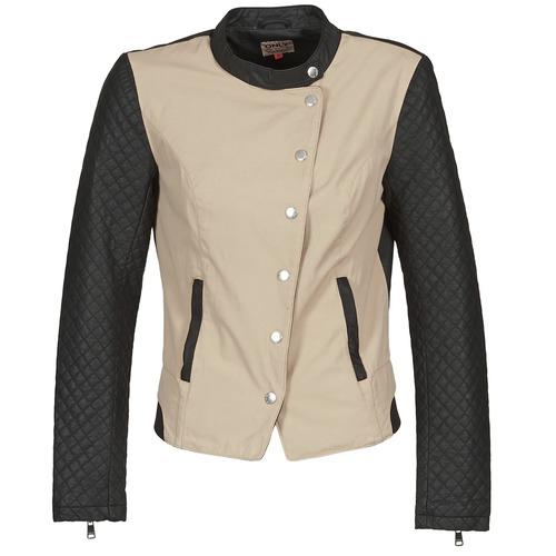 Vêtements Femme Vestes en cuir / synthétiques Only LICENS Beige / Noir