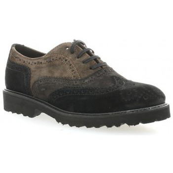 Chaussures Femme Derbies Exit Derby cuir velours Noir