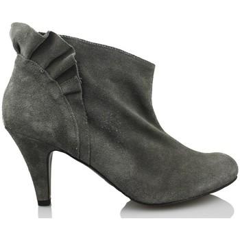 Chaussures Femme Low boots Vienty Butin  élégante courte GRIS