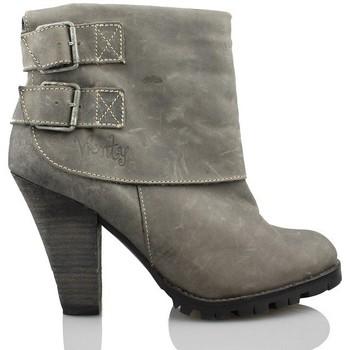 Chaussures Femme Bottines Vienty femme butin boucles GRIS