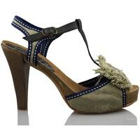 Chaussures Femme Sandales et Nu-pieds Vienty bandes de boucles naturelles BEIGE