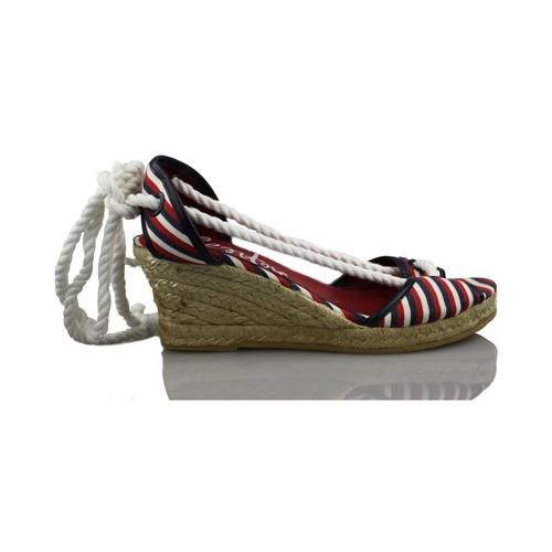 Chaussures Femme Espadrilles Vienty balnéaire pelle MARIN