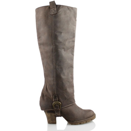 Chaussures Femme Bottes ville Vienty SOLPA CHOCO BRUN