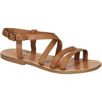 Chaussures Femme Sandales et Nu-pieds Gianluca - L'artigiano Del Cuoio 531 D CUOIO CUOIO Cuoio