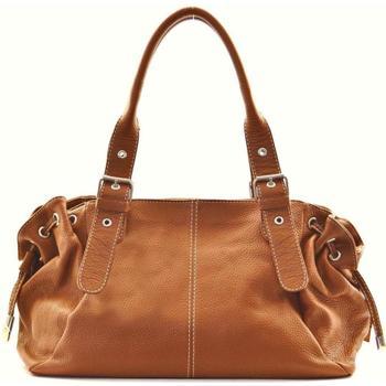 Sacs porté épaule Oh My Bag Sac à Main CUIR femme - Modèle Princesse cognac foncé