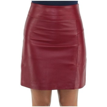 Vêtements Femme Jupes Giorgio Cuirs Jupe Giorgio Jade en cuir ref_gio26638-rouge Rouge