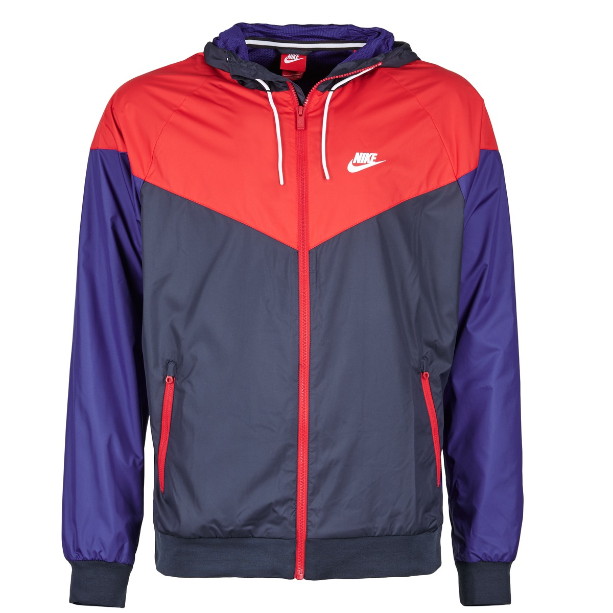 nike windrunner marine rouge bleu livraison gratuite avec v tements coupes. Black Bedroom Furniture Sets. Home Design Ideas