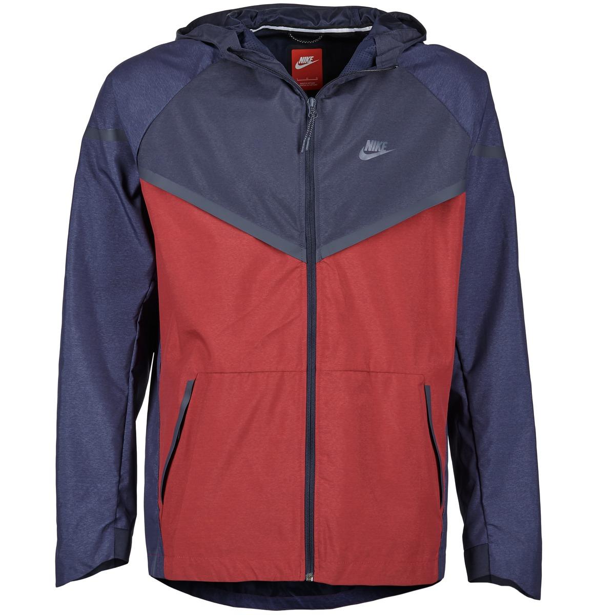 Nike TECH WINDRUNNER Rouge / Marine / Gris