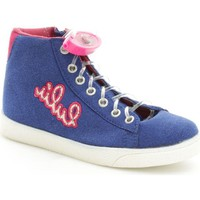 Chaussures Fille Baskets montantes Lulu LuLù BLOND Basket Fille Blue Blue