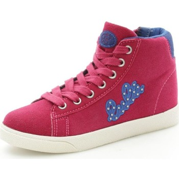 Chaussures Fille Baskets montantes Lulu LuLù BLOND Basket Fille Fucsia Fucsia