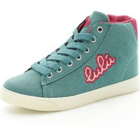 Chaussures Fille Baskets montantes Lulu LuLù BLOND Basket Fille Turquoise Turquoise