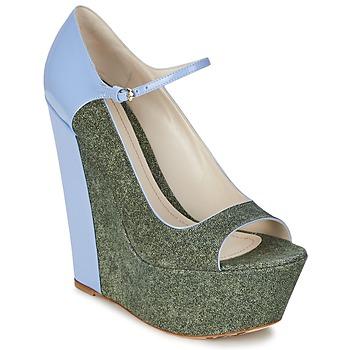 Escarpins John Galliano S54261 Bleu / Vert 350x350