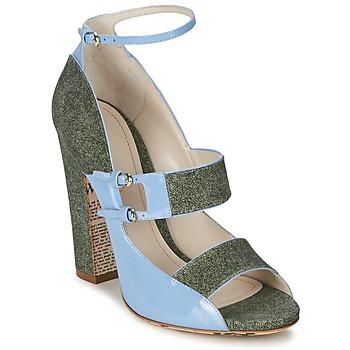 Sandale John Galliano A54250 Bleu / Vert 350x350