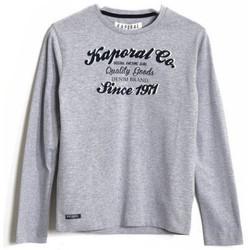 Vêtements Garçon T-shirts manches longues Kaporal T-Shirt  Berol gris mélangé Gris