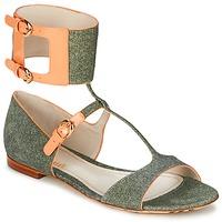 Chaussures Femme Sandales et Nu-pieds John Galliano A65970 Vert / Beige