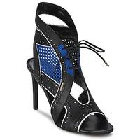 Chaussures Femme Sandales et Nu-pieds Roberto Cavalli XPS254-PZ448 Noir / Bleu