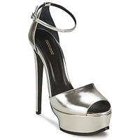Chaussures Femme Sandales et Nu-pieds Roberto Cavalli XPS260-PZ048 Gris argent
