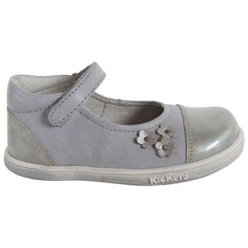 Chaussures Fille Ballerines / babies Kickers 413501-10 TREMIMI Gris
