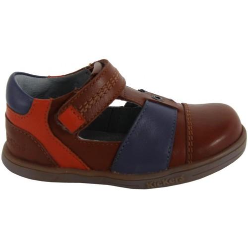 Chaussures Garçon Derbies Kickers 413540-11 TROPICALI Marrón