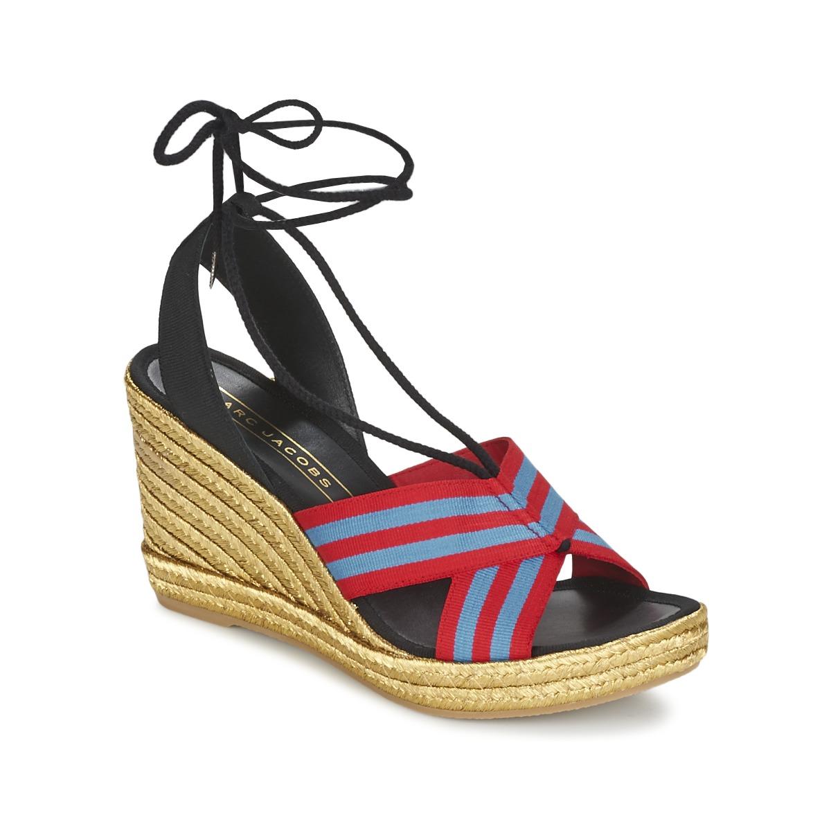 marc jacobs dani bleu rouge livraison gratuite avec chaussures sandale femme. Black Bedroom Furniture Sets. Home Design Ideas