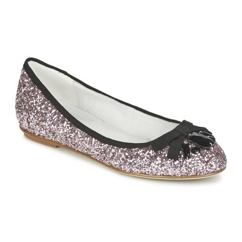 Chaussures Femme Ballerines / babies Café Noir BOLERA Glitter/black