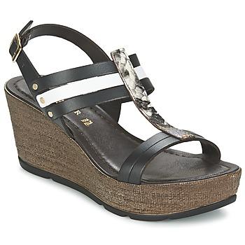 Chaussures Femme Sandales et Nu-pieds Café Noir LAPIBO Noir