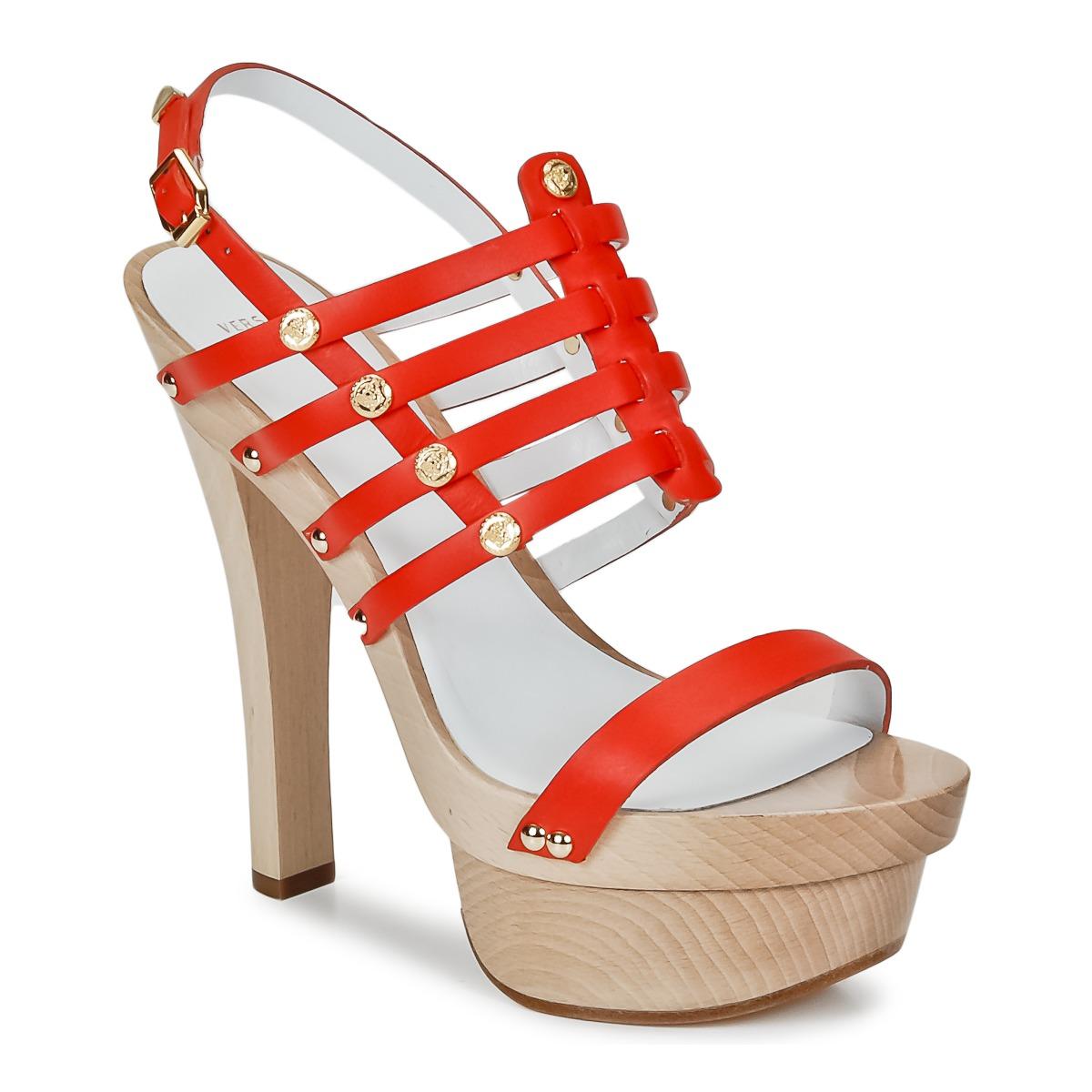 Sandale Versace DSL943T Rouge