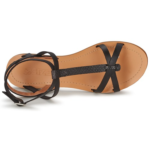 Et So Nu pieds Sandales Femme Bealo Size Noir K1JlcTF