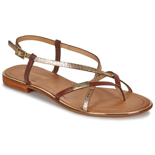 Chaussures Femme Sandales et Nu-pieds Les Tropéziennes par M Belarbi MONACO  Tan / Or