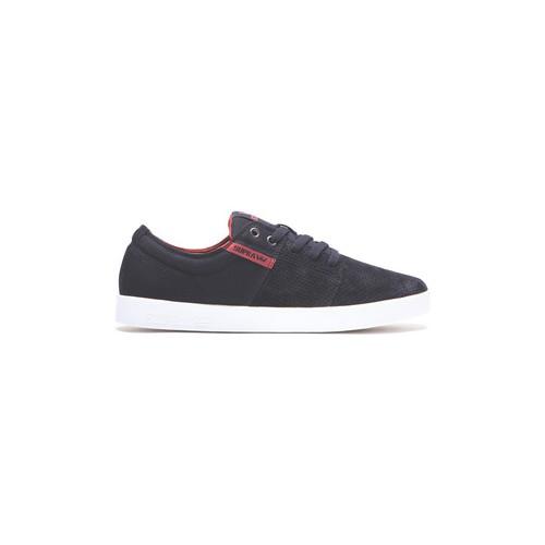Chaussures Homme Chaussures de Skate Supra STACKS 2 BURNT HENNA - WHITE Noir