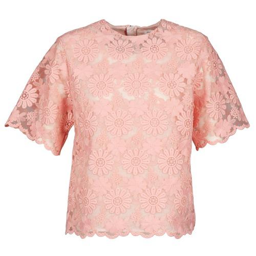 Vêtements Femme Tops / Blouses Manoush AFRICAN BLOUSE Corail