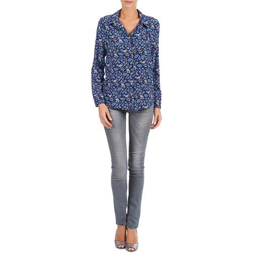 BANDANA SILK  Manoush  chemises / chemisiers  femme  bleu