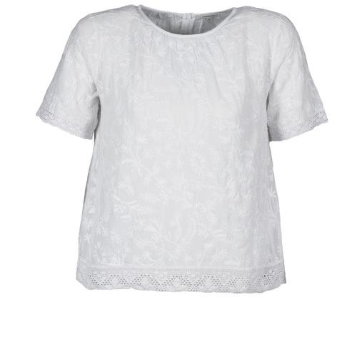 T-shirts & Polos Manoush COTONNADE SMOCKEE Blanc 350x350