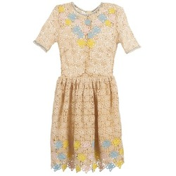Vêtements Femme Robes courtes Manoush ROSES Ecru
