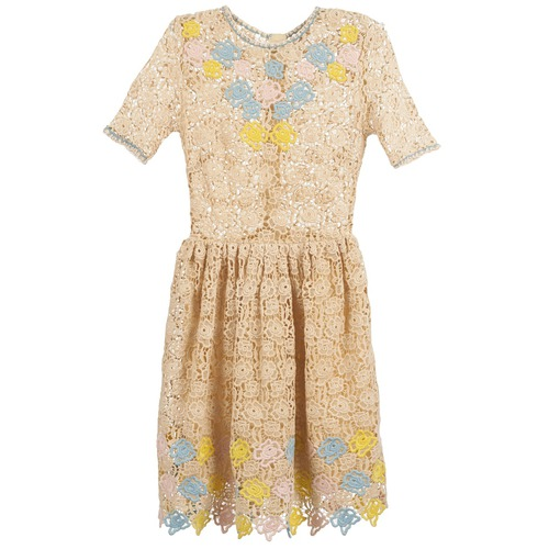 Vêtements Femme Robes courtes Manoush ROSES Ecru