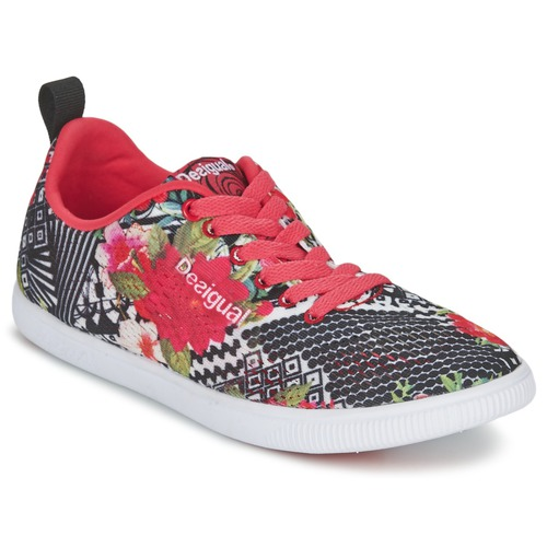 Chaussures Femme Baskets basses Desigual FUN-EVA Noir / Rouge