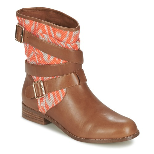 Chaussures Femme Boots Mellow Yellow VABELO Marron / Orange