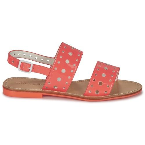 Yellow Et Nu Vadina Mellow Corail Sandales Femme pieds eD9EH2bWYI