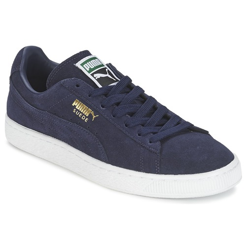 cheap for discount 42414 8d3ed Chaussures Baskets basses Puma SUEDE CLASSIC + Marine