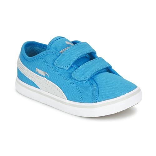 Chaussures Enfant Baskets basses Puma ELSU V2 CV V KIDS Bleu / Gris