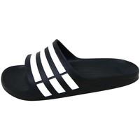 Chaussures Sandales sport adidas Originals Duramo Slide Noir / Blanc / Noir