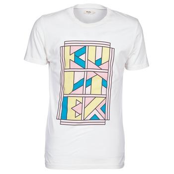 Vêtements Homme T-shirts manches courtes Kulte ANATOLE BLOCK BLANC