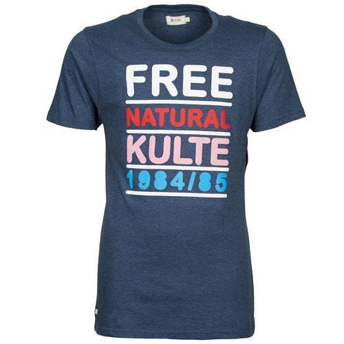 Vêtements Homme T-shirts manches courtes Kulte AUGUSTE FREE Bleu